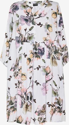 GOZZIP Robe-chemise 'Elly' en mélange de couleurs / blanc, Vue avec produit