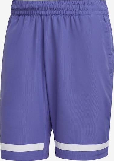 ADIDAS PERFORMANCE Shorts in dunkellila / weiß, Produktansicht
