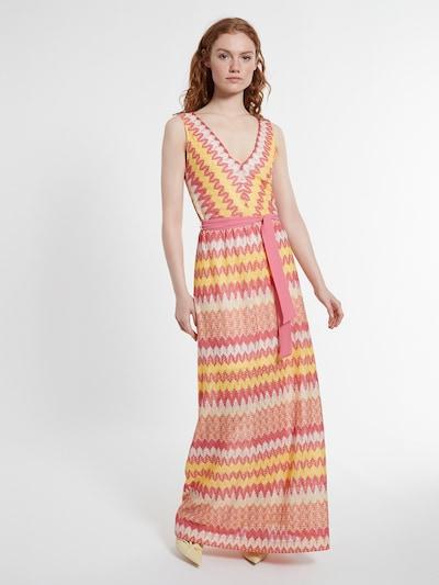 Ana Alcazar Kleid ' Daisory ' in gelb / orange / pink / weiß, Modelansicht