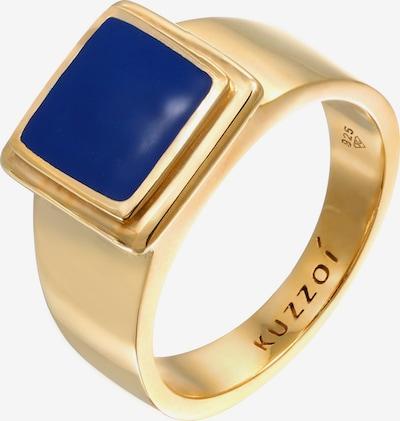KUZZOI Ring Siegelring in dunkelblau / gold, Produktansicht