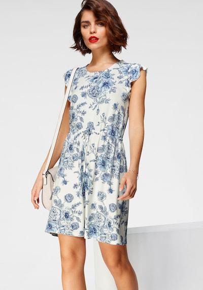 TAMARIS Kleid in blau / weiß, Modelansicht