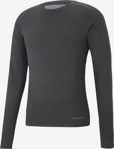 PUMA Sportsweatshirt 'Porsche Design' in de kleur Lichtgrijs / Donkergrijs, Productweergave