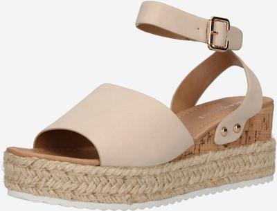 Sandale GLAMOROUS pe bej, Vizualizare produs