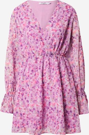 NA-KD Kleid in gelb / lila / helllila / pink, Produktansicht