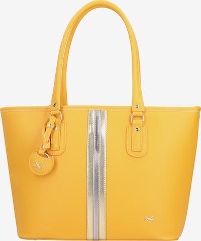 SANSIBAR Shopper in gelb / silber, Produktansicht