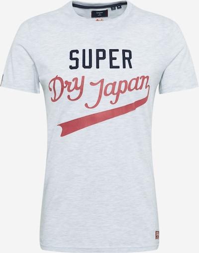 Superdry Shirt in de kleur Lichtgrijs / Pastelrood / Zwart, Productweergave