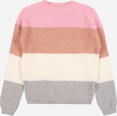 KIDS ONLY Pullover 'SANDY' in creme / braun / hellgrau / hellpink, Produktansicht