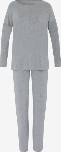 Hanro Pyjama ' Natural Elegance ' en gris, Vue avec produit
