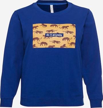 Sweat-shirt SHEEGO en bleu