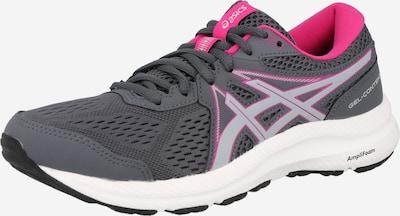 ASICS Skriešanas apavi 'Gel-Contend 7', krāsa - pelēks / plūmju / neona rozā / gaiši rozā / balts, Preces skats