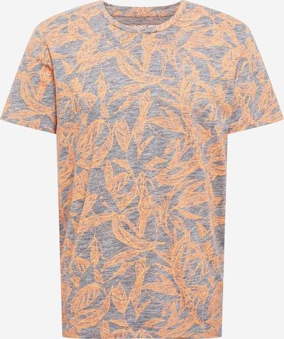 JACK & JONES T-Shirt 'Lefo' en gris chiné / orange, Vue avec produit