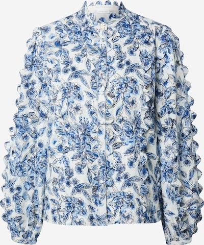 Fabienne Chapot Chemisier en bleu / bleu clair / blanc naturel, Vue avec produit