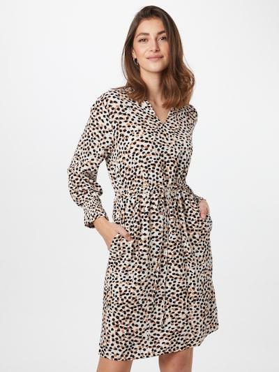 COMMA Kleid in nude / braun / schwarz / weiß, Modelansicht