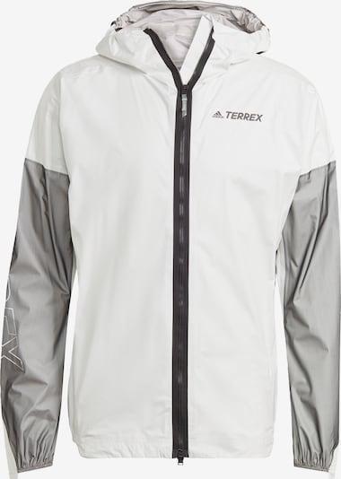 adidas Terrex Sportjas 'Agravic Pro Trail' in de kleur Grijs / Zwart / Wit, Productweergave