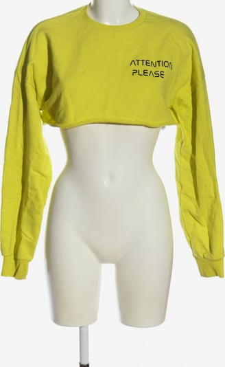 NA-KD Sweatshirt in M in pastellgelb / schwarz, Produktansicht