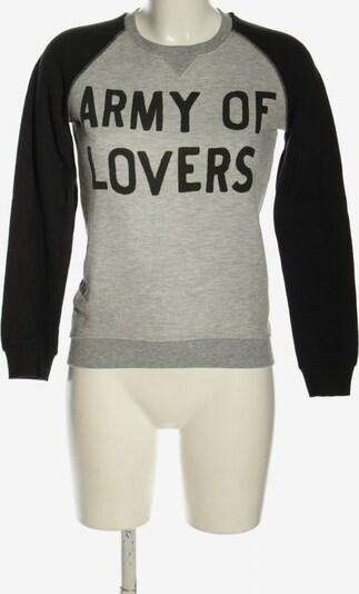 ZOE KARSSEN Sweatshirt in S in hellgrau / schwarz, Produktansicht