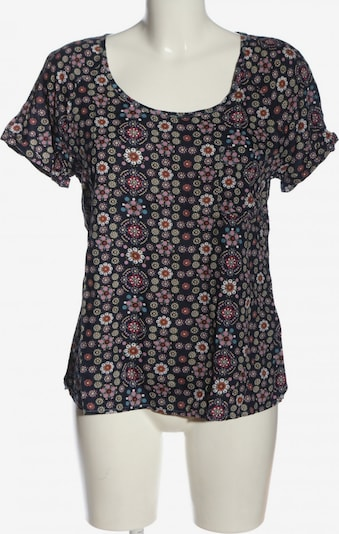 CAMPUS Kurzarm-Bluse in S in pastellgelb / pink / schwarz, Produktansicht