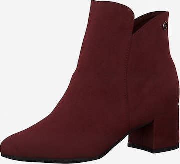 TAMARIS Ankle Boots in Red