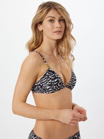 Calvin Klein Swimwear Bikinitop in greige / schwarz / weiß, Modelansicht