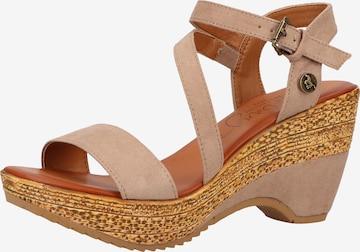 MUSTANG Sandale in Beige
