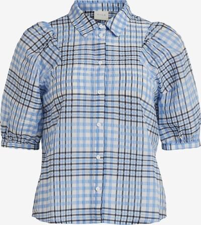 VILA Bluse in hellblau / basaltgrau / offwhite, Produktansicht