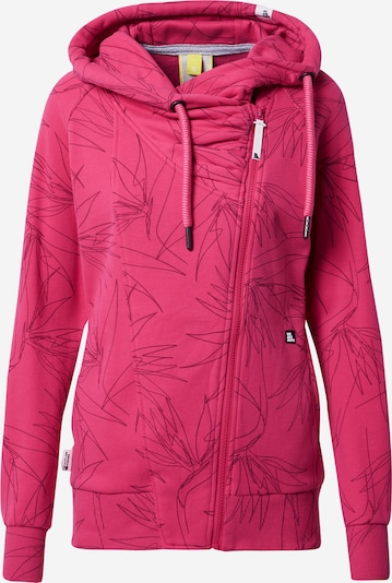 Alife and Kickin Sweatjacke 'Snakecharmer' in fuchsia / schwarz, Produktansicht