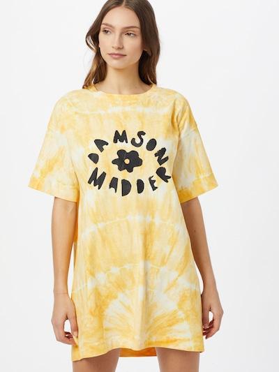 Damson Madder Robe en orange / noir / blanc: Vue de face