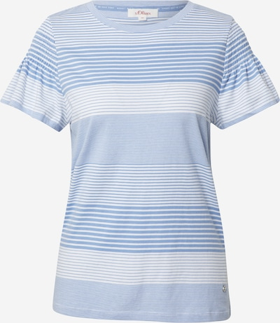 s.Oliver Shirt in de kleur Lichtblauw / Wit, Productweergave