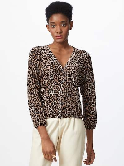 NEW LOOK Blusa en chamois / marrón / azul castaño / capuchino, Vista del modelo