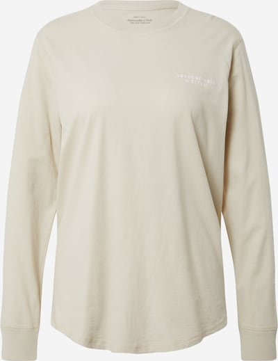 Abercrombie & Fitch Shirt in de kleur Taupe / Wit, Productweergave