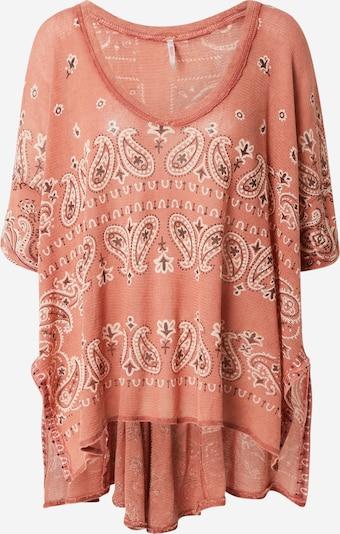 Free People Shirt 'NO MATTER WHAT' in rosé / burgunder / weiß, Produktansicht