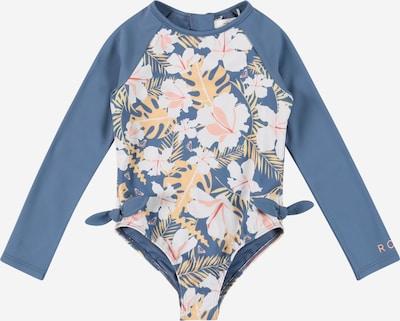 ROXY Badeanzug in taubenblau / orange / rosa / pastellrot / weiß, Produktansicht