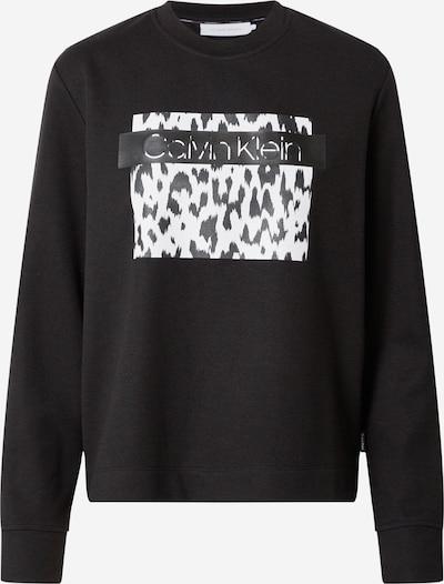 Calvin Klein Μπλούζα φούτερ σε μαύρο / λευκό, Άποψη προϊόντος
