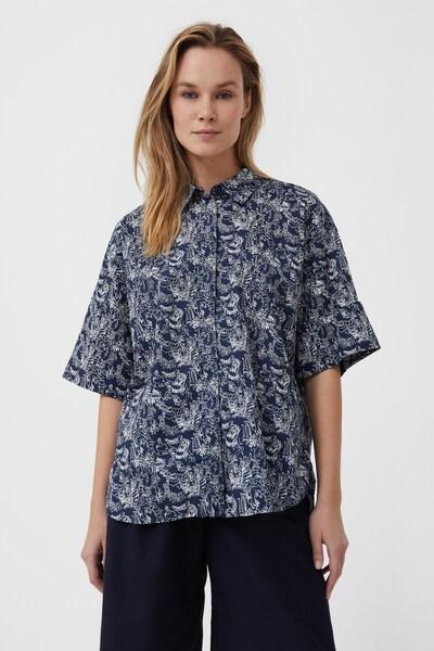 Finn Flare Kurzarm-Bluse in blau, Modelansicht