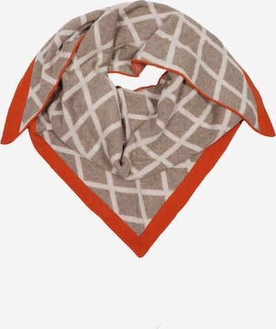 Zwillingsherz Schal 'Henrike' in beige / orange / weiß, Produktansicht