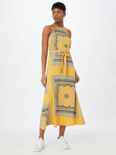 ONLY Kleid 'ALMA' in gelb / grau / weiß, Modelansicht