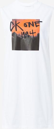 Calvin Klein Jeans Kleid in orange / schwarz / weiß, Produktansicht