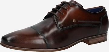 Pantofi cu șireturi de la bugatti pe maro