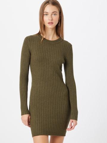 JDY Gebreide jurk 'Magda' in Groen