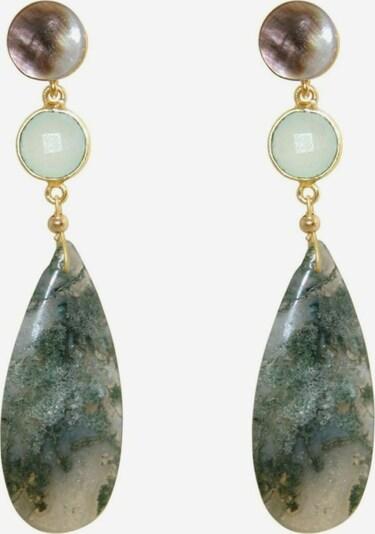 Gemshine Ohrringe in azur / gold / dunkelgrün / mischfarben, Produktansicht