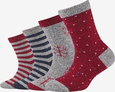 camano Socken in dunkelblau / grau / dunkelrot, Produktansicht