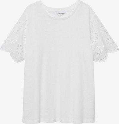 Tricou 'RICH' VIOLETA by Mango pe alb murdar, Vizualizare produs
