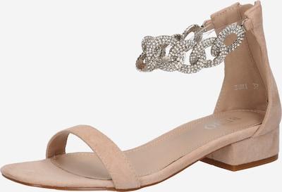 BEBO Sandále 'ZUMI' - telová / priehľadná: Pohľad spredu
