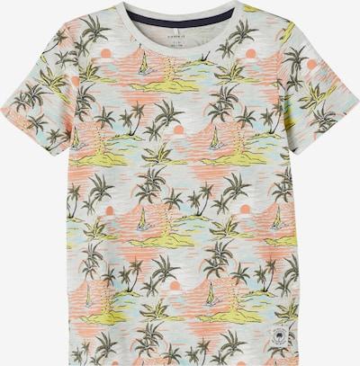 NAME IT Shirt 'JABRIEL' in hellblau / gelb / grau / dunkelgrün / lachs, Produktansicht