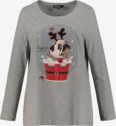 Ulla Popken Shirt 'Weihnachten' in grau, Produktansicht