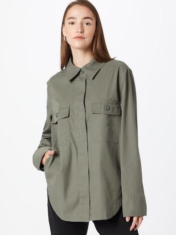 BOSS Casual Bluse in Grün
