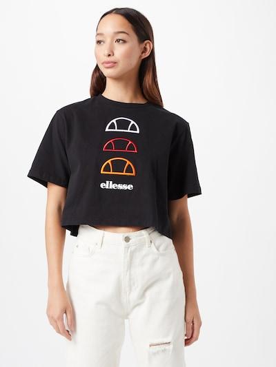 ELLESSE T-shirt 'DEWAY' en orange / rouge / noir / blanc: Vue de face