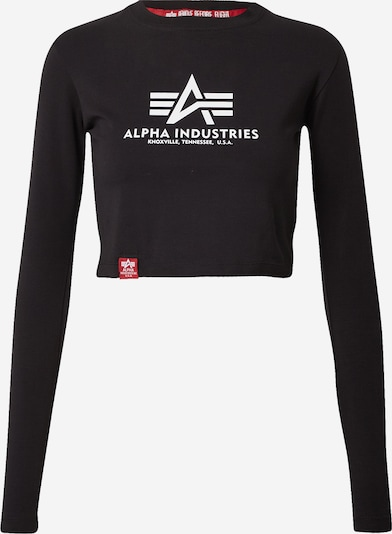 ALPHA INDUSTRIES Camiseta en negro / blanco, Vista del producto