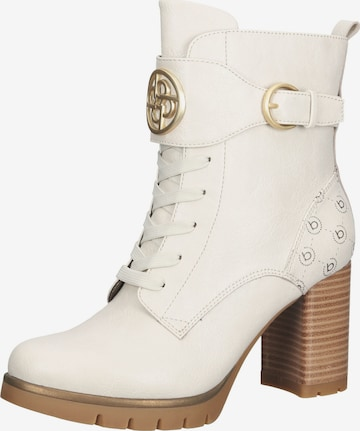 bugatti Lace-Up Ankle Boots in Beige