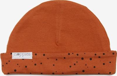 Noppies Muts 'Lynn' in de kleur Oranjerood / Zwart, Productweergave